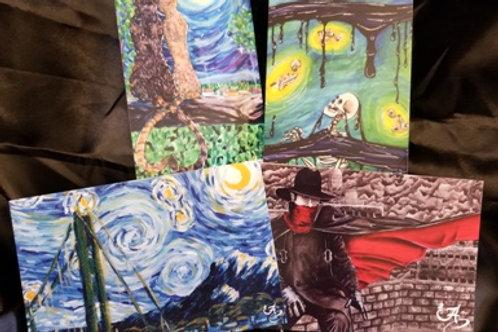 Set of 4 Postcards