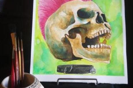 Punk Rocker Skull - Original