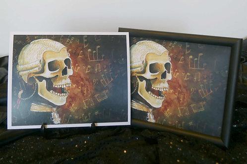 Classical Music Skull - 8x10 Fine Art Print