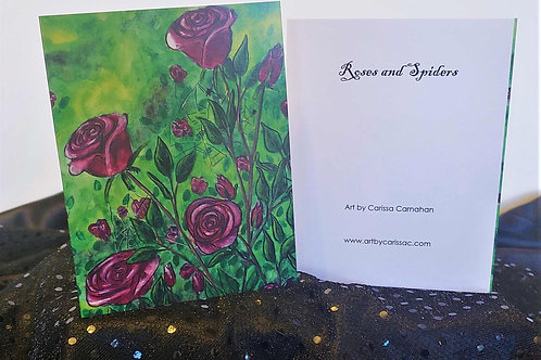 Roses and Spiders Print