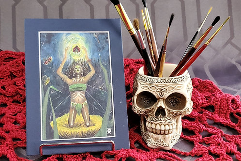 Voodoo Fairy - Matted Art Print