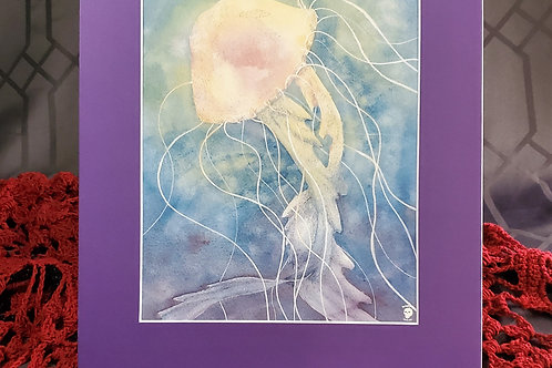 Jellyfish - Matted Art Print