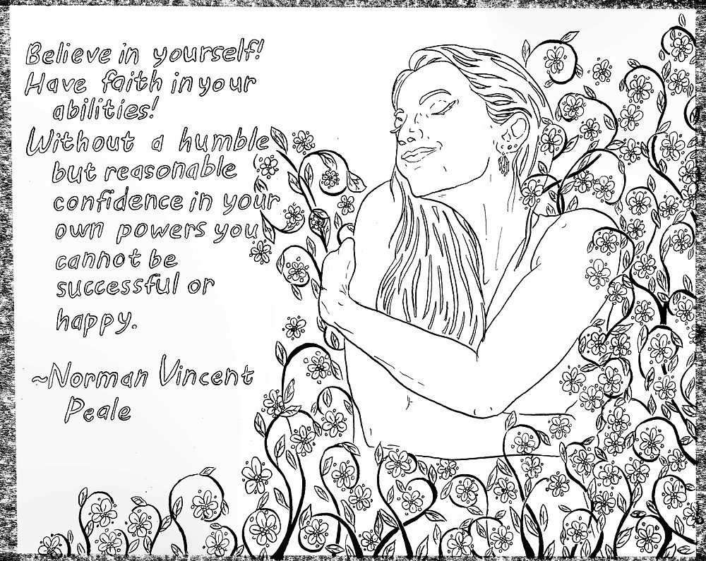 NormanVincentPeale_Quote_LineDrawing