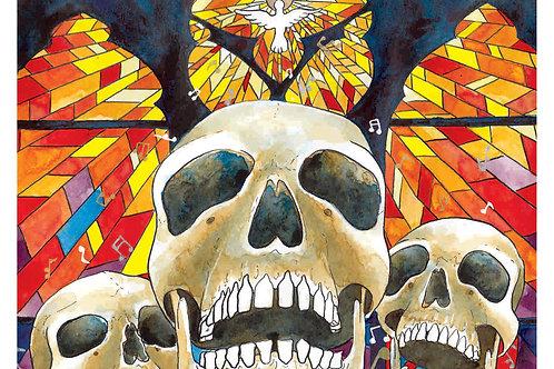 Gospel Music Skull - 8x10 Laser Print