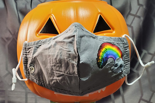 Skull Cloud and Rainbow - 3 Layer Mask With Metal Nose Bridge