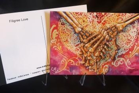 Filigree Love - Postcard