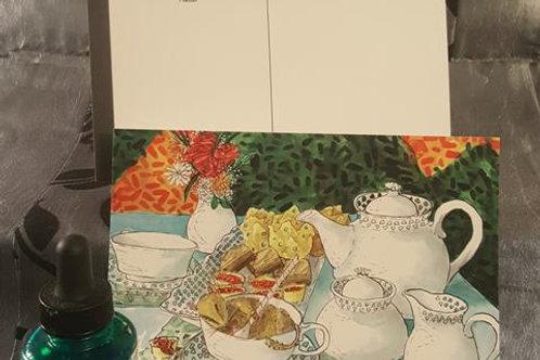 Dormouse at Tea Time Print