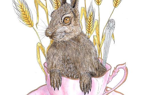 A Hare in my Tea - Original