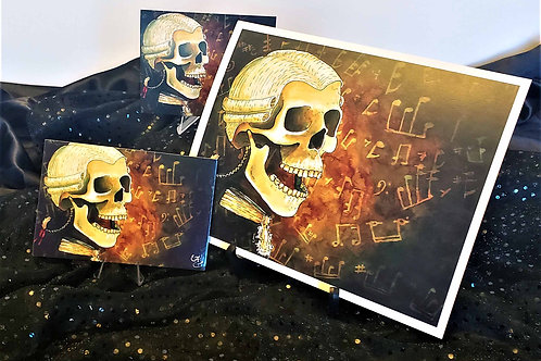 Classical Music Skull Prints