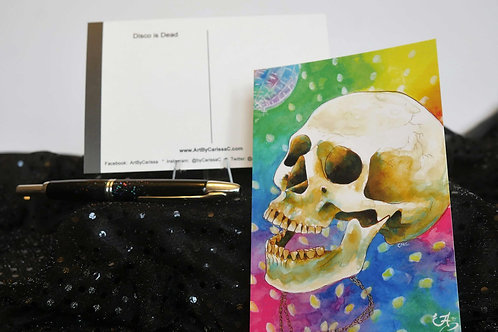 Disco Music Skull - Postcard