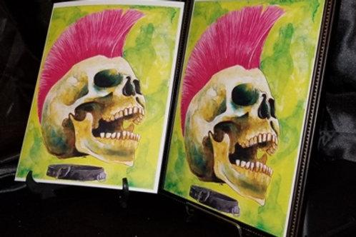 Punk Rocker Skull - 8x10 Fine Art Print