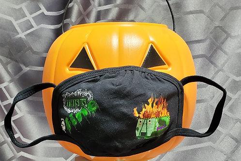 Dumpster Fire, Green -  2 Layer Mask