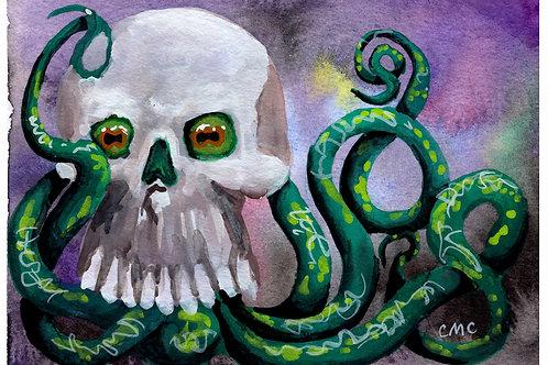 Octopus' Peek-a-Boo! - Prints