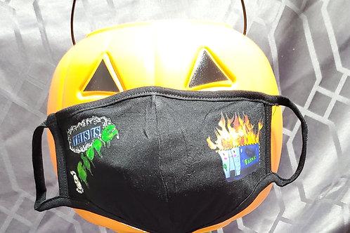 Dumpster Fire, Blue - 2 Layer Mask