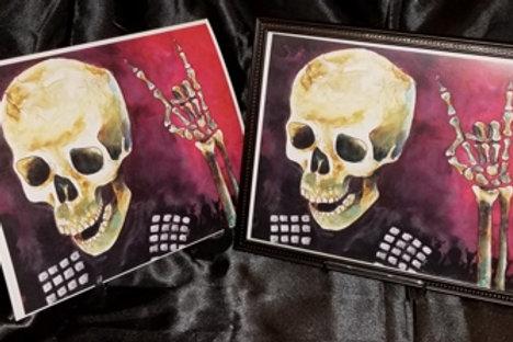 Metal Skull - 8x10 Fine Art Print