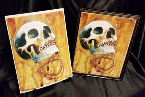 Rapper Skull - Fine Art Print