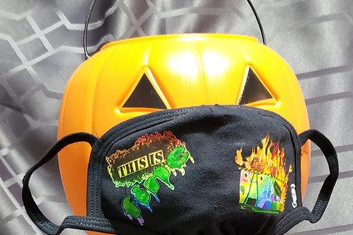Dumpster Fire, Rainbow -  2 Layer Mask