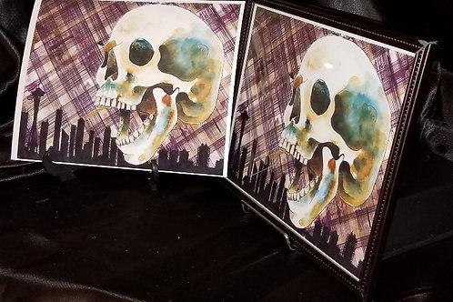 copy of Grunge Skull - 8x10 Fine Art Print
