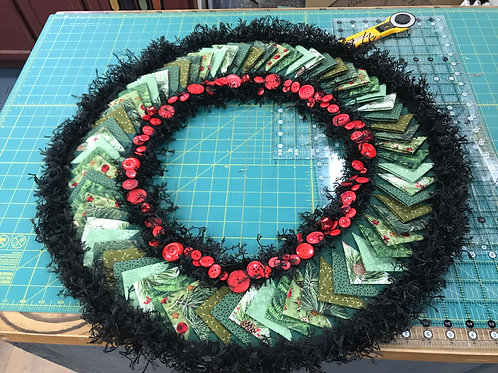 Pinwheel Wreath Pattern + Embellishment Kit
