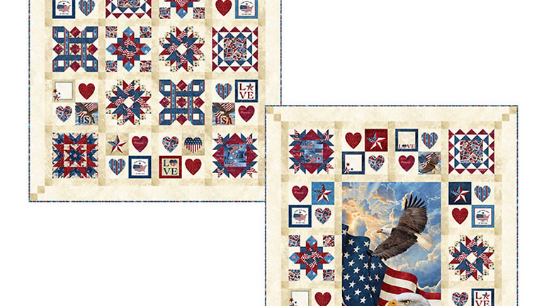 """BOM: QUILTS OF VALOR """"FOR THE BRAVE"""" QUILT-ALONG"""