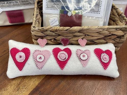 Primitive Hearts Pin Cushion Kit