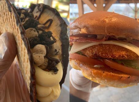 Chicken Filet Sandwich & Cookie Dough Cheesecake TACO