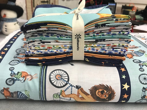 Bike Ride by Clothworks - Fat Quarters