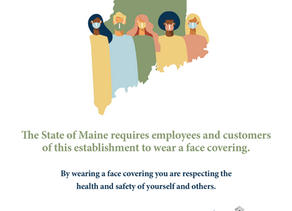"""""""Wear a Mask"""" posters available from Maine office of Tourism"""