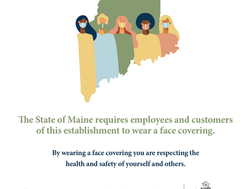 """Wear a Mask"" posters available from Maine office of Tourism"