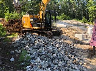 Baldwin Maine Site Work Excavator