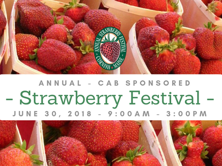 Profits from the Seventh Annual Cornish Strawberry Festival will be donated to the Sacopee Rescue!