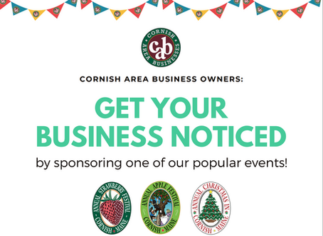 Get your business noticed by sponsoring one of our great events!