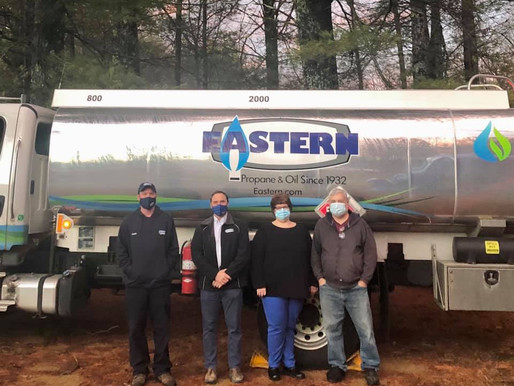 Eastern Propane & Oil Awards Local Veteran with a FREE Season of Heating Fuel