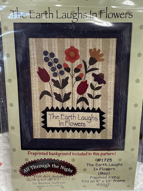 """""""The Earth Laughs in Flowers"""" pattern"""
