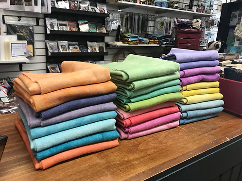 Hand-Dyed Wool - Spring Colors - Fat Quarters