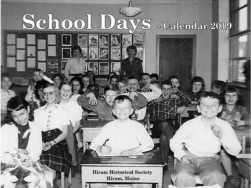 School Days 2019 Calendar