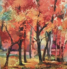 fall watercolor fabric