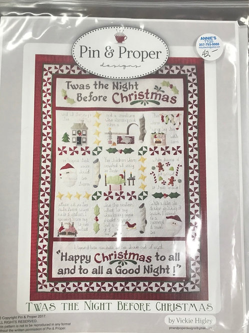 Pin & Proper - Twas the Night Before Christmas Pattern