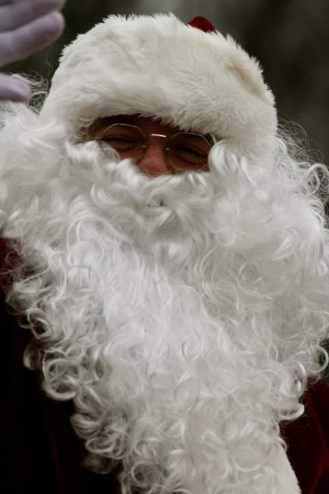 Santa visits Limerick, Maine