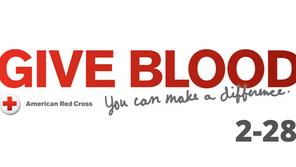2/28 Porter blood drive at Riverside Methodist