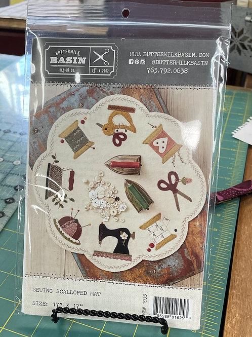 Scalloped Sewing Mat - Kit or Pattern