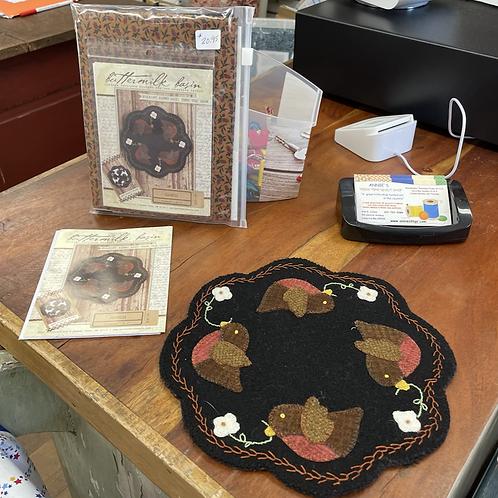 Folk Art Penny Mat - Pattern or Kit