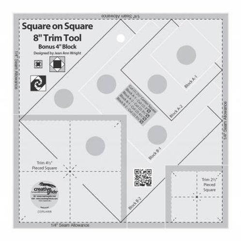 "8"" Square on Square Ruler"