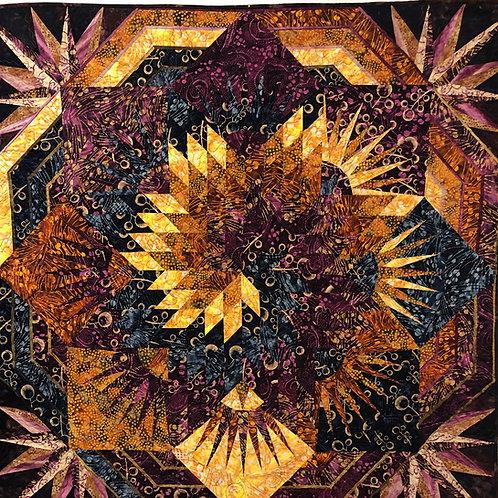 """Stardust"" the 2021 Maine Shop Hop Fabric - by Banyan Batiks, Northcott Fabrics"