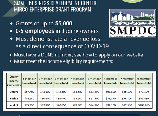 Grants for Small Maine Businesses