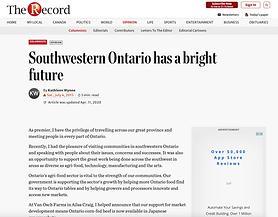 Southwestern Ontario has a bright future