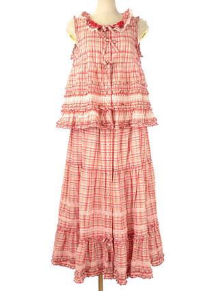 【買取情報】ピンクハウス PINK HOUSE オリジナルチェックのブラウスとスカートを査定させて頂きました♪