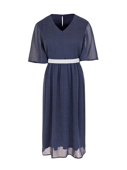 Sukienka szyfonowa Paris w kropki