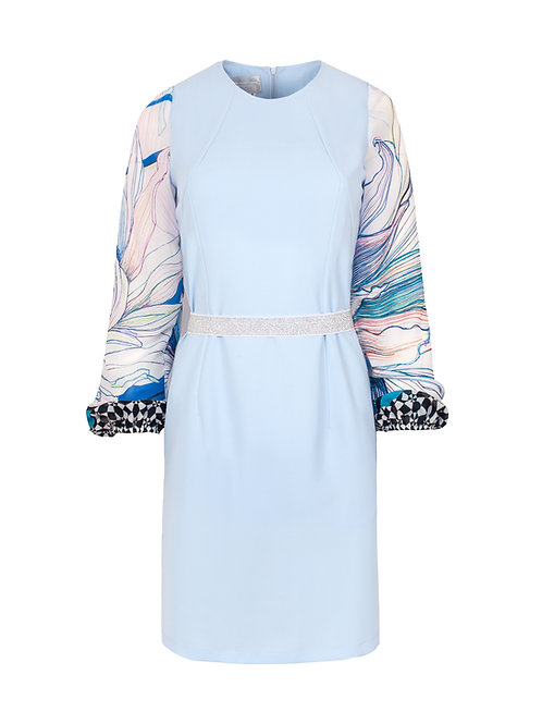 Sukienka z szyfonowymi rękawami Chicago