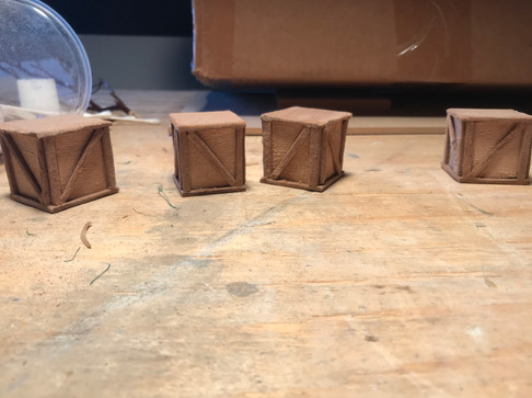 """Crates made of 1/8"""" MDF"""